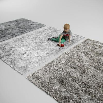 现代绒毛地毯3D模型下载