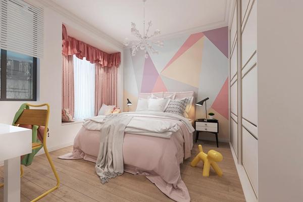 北欧儿童房卧室3D模型