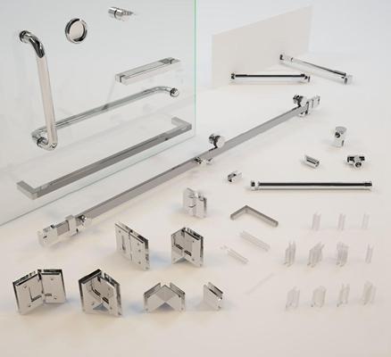现代卫浴小件组合3D模型