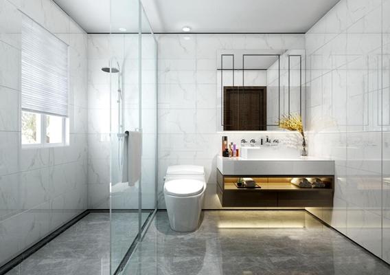 現代浴室衛生間3D模型