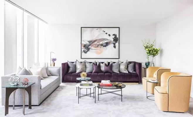 现代沙发边几组合3D模型