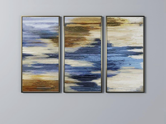 现代抽象挂画组合3d模型
