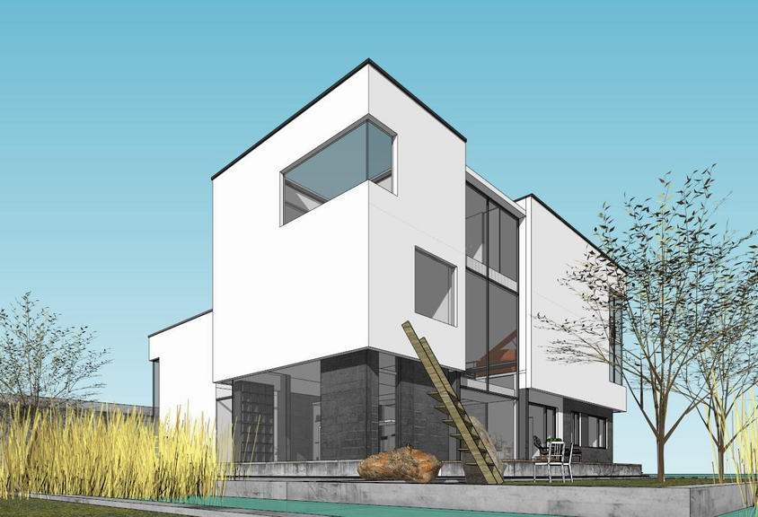 现代别墅SU模型