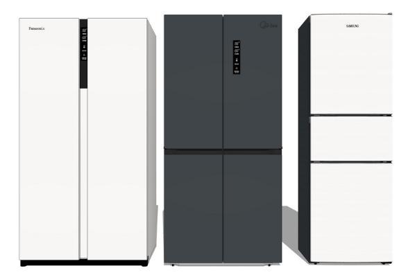 现代冰箱组合SU模型