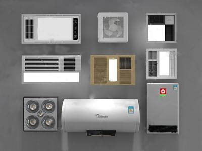 现代浴霸热水器3d模型