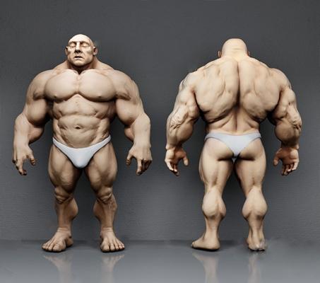 游戏角色3D模型