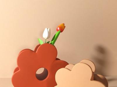贝汉美 北欧花朵花瓶
