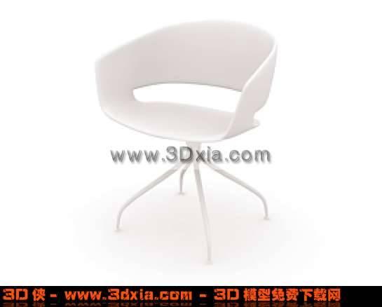 很简约时尚的椅子3D模型