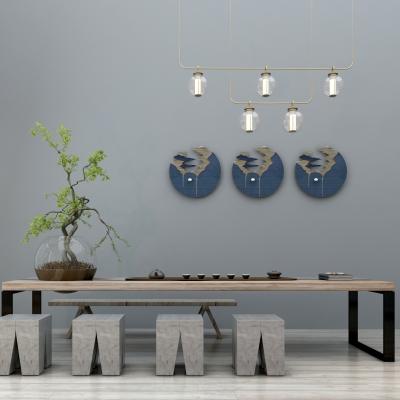新中式泡茶桌椅组合3D模型