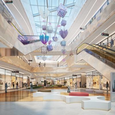 现代商场3D模型