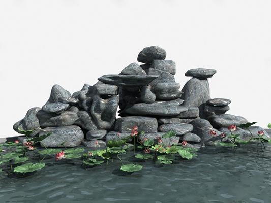 假山3D模型