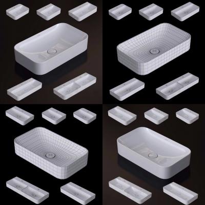 现代陶瓷洗手盆台盆3D模型