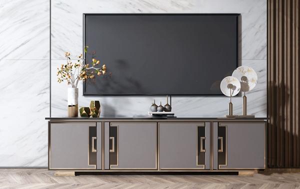 现代金属电视柜3d模型