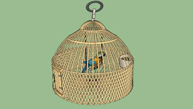 笼子里的Parrot 篮子 包 钱包 饰品 圆顶