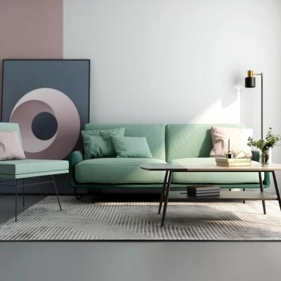 北欧翠鸟配色沙发组合3D模型