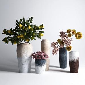 现代花艺 现代花艺 花瓶摆件 陶罐 盆栽