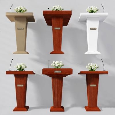 现代演讲台3D模型