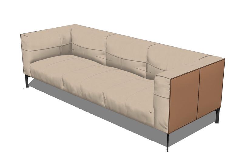 多人沙发SU模型