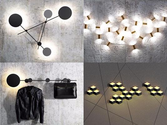 后现代壁灯 后现代壁灯 铁艺壁灯 壁灯组合