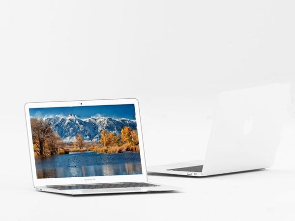 现代苹果笔记本电脑3d模型