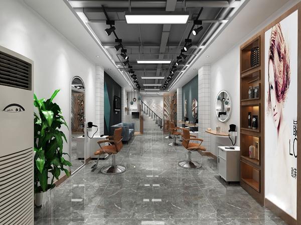 工业风理发店3d模型