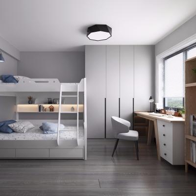 北欧儿童房上下铺卧室3D模型