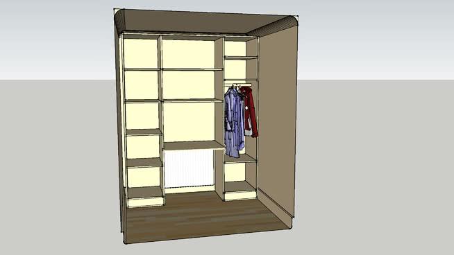 衣帽间存放区及办公桌 镜子 滑动门 衣柜 台灯 其他