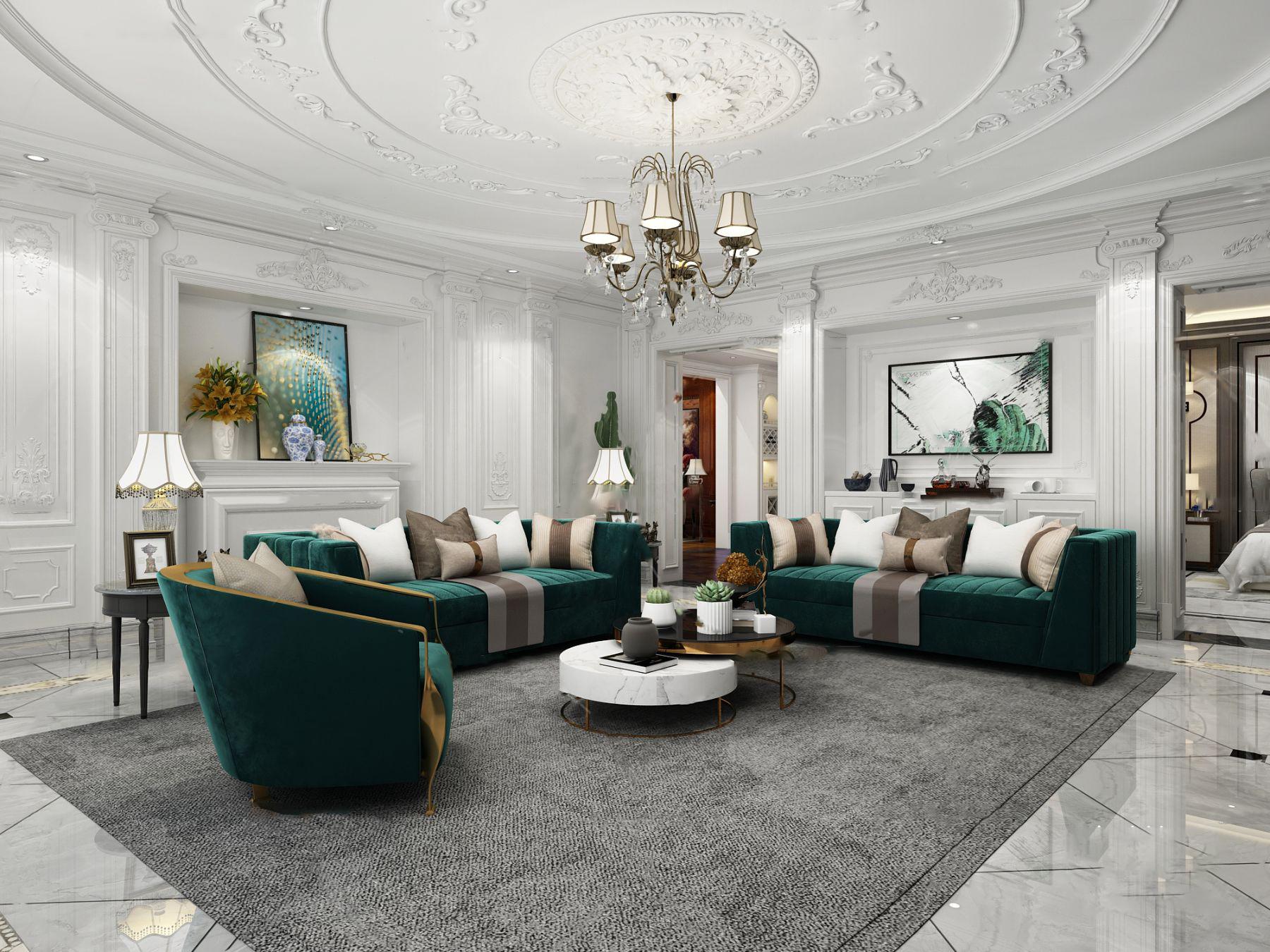 法式客廳3d模型