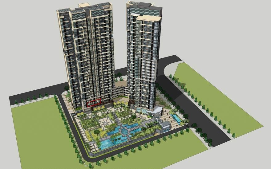 现代高层小区景观SU模型