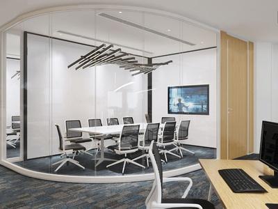 现代办公区小会议室3d模型