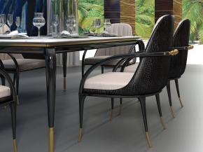 意大利高级餐桌椅餐具组合3D模型