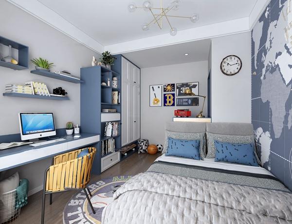北欧卧室男孩房3d模型