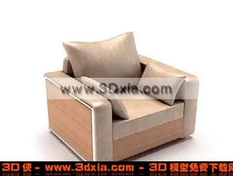 非常舒适的3D标准单人沙发模型