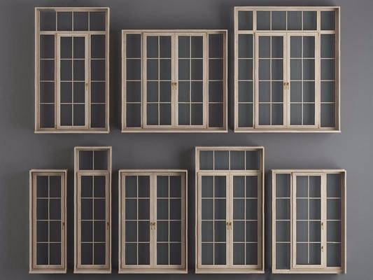 现代厨卫门窗 现代门 窗户 木窗 厨房门 双开门 单开门