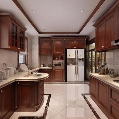 新中式厨房 新中式厨房 橱柜 冰箱