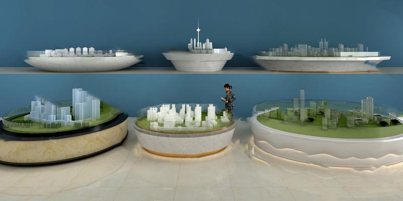 现代沙盘3D模型