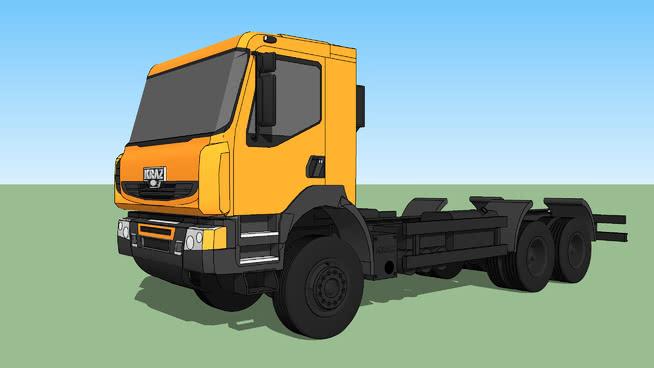 kraz h22.2rx 垃圾车 起重机 工地 机械 叉车