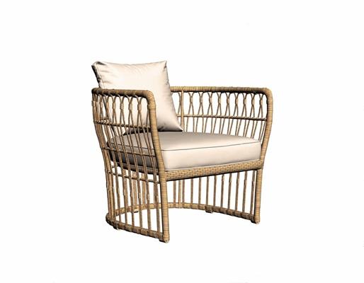 东南亚藤椅 东南亚休闲椅 藤编椅 单椅 室外椅子