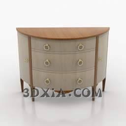非常典雅的床头柜c-3DS格式