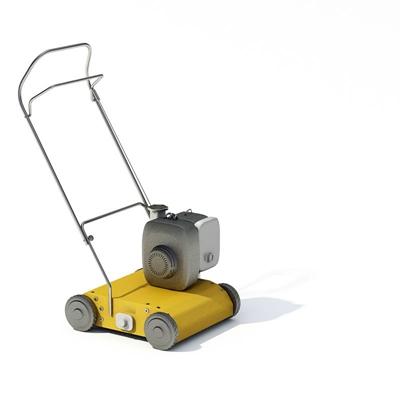 黄色除草机