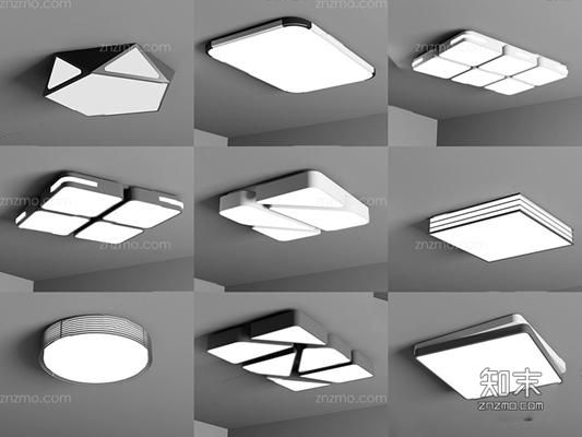 现代吸顶灯组合 现代吸顶灯 走廊灯 金属灯具