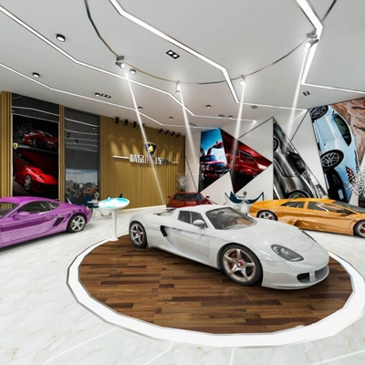 進口跑車4S店 展廳 汽車店 汽車
