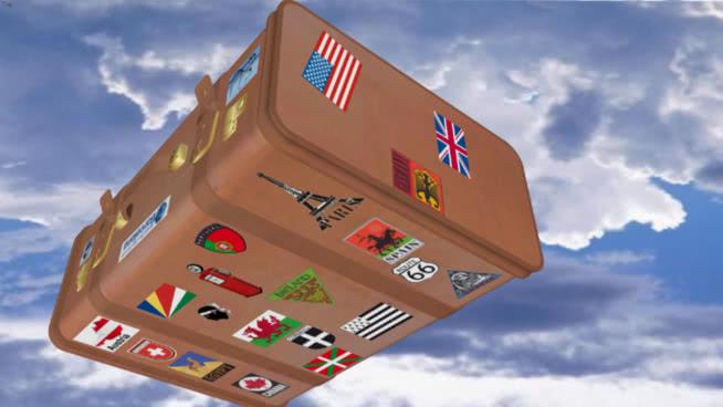 水瓶 纸盒箱 天空 热气球 小包裹 风筝