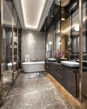 现代卫生间 现代卫浴 台盆 卫浴柜 浴缸 马桶 淋浴