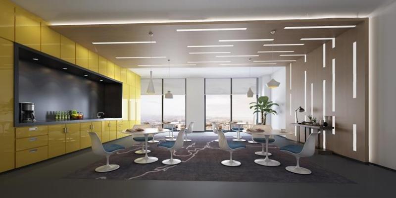 现代洽谈区 洽谈室 休闲区 休闲桌椅 橱柜