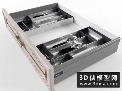 抽屉刀叉餐具模型