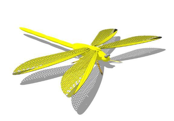 蜻蜓SU模型