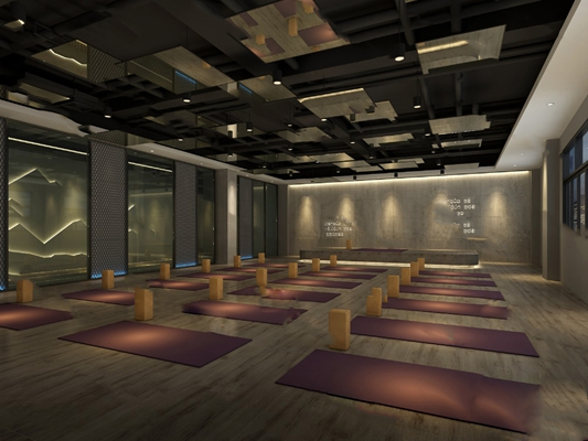 工业瑜伽室3D模型