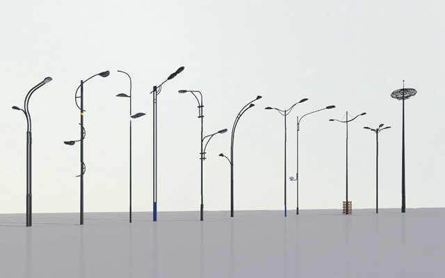 现代路灯3D模型