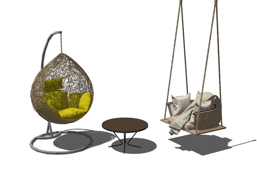 吊椅组合SU模型